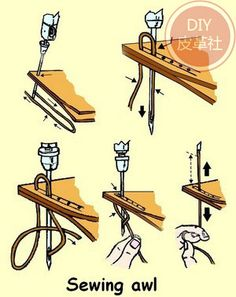 DIY Leather Craft Tool Super Carving Wax Line Hand Made Leather Tools Art Needle Sewing Machine Hand Sewing Machine Stitching Machine Leather Craft Tools Leather Art, Sewing Leather, Leather Pattern, Leather Tooling, Custom Leather, Handmade Leather, Leather Jewelry, Sewing Hacks, Sewing Crafts