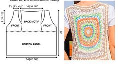 Our goal is to keep old friends, ex-classmates, neighbors and colleagues in touch. Crochet Tunic, Crochet Jacket, Crochet Granny, Crochet Clothes, Free Crochet, Knit Crochet, Crochet Vests, Knitting Patterns Free, Free Pattern