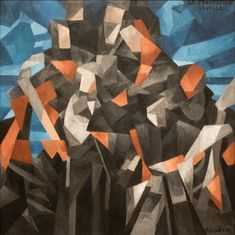 "Francis Picabia (1879-1953) - ""The Procession, Seville"" 1912 oil on canvas at the National Gallery of Art in Washington, D.C."