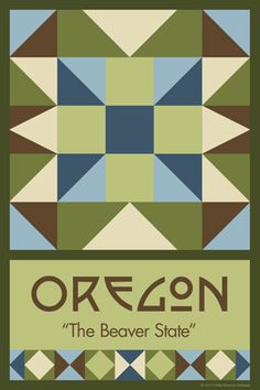 Olde America Antiques | Quilt Blocks | National Parks | Bozeman Montana : Oregon - OREGON