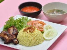 Nasi Ayam - my husband loved it