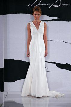 Flattering for hourglass or apple shaped body types - plus size wedding dress #plussize #weddingdress #plussizeweddingdress