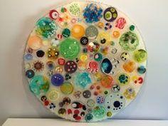 Oversize Circle of Circles, Petri dish art
