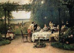 """Toast to the heir presumptive"" by Adrien Moreau"