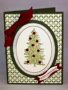 Stampin' Up! Evergreen Christmas Card