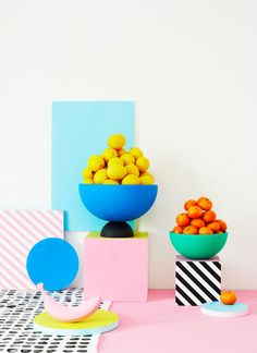 Bright Colourful Playful Styling by Charlotte Love .
