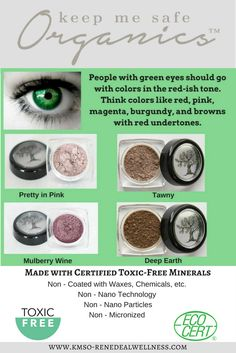 Keep Me Safe Organics  Made with EcoCert Certified Minerals that are FREE of all Toxins that will damage the skin.