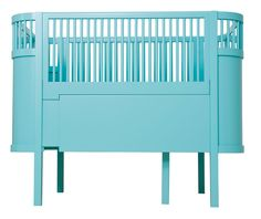This is kind of a neat crib - not worth 1000 euros, but it does transform into a real bed