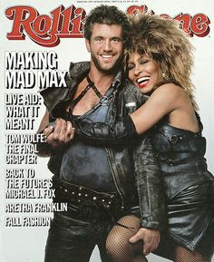 Mad Max :  Mel Gibson &  Tina Turner - Rolling Stone (1985 Aug)