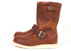 "Red Wing Shoes 2971 - 11"" Engineer Copper Rough and Tough"