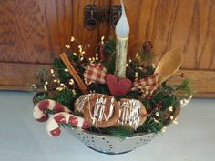 Winter colander - fun decor for your kitchen.