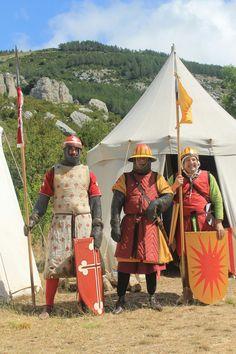 Spanish knights. XIII century. Aragón.