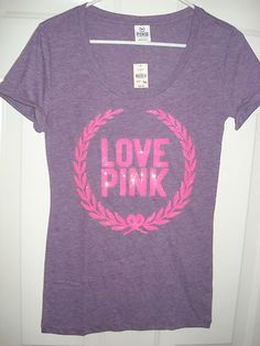 Details about UNIQUE Victoria's Secret PINK Heart LOVE ME Top T ...
