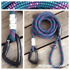 Dark Forest Climbing Rope Dog Leash. Built with recycled rope and all new hardware. Ideal for medium to extra large dogs. http://mydogscool.com/store/leashes/dark-forest-dog-leash/
