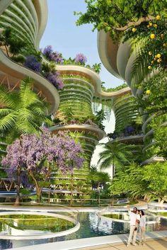 Ville futuriste verte #futur
