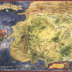 This x poster features the iconic map of Randland from The Wheel of Time series, painted by Elissa Mitchell. Fantasy Places, Fantasy Map, Fantasy Books, Fantasy World, Fantasy Series, Harry Potter, Elias Und Laia, Wheel Of Times, Wheel Of Time Books