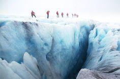 Guided glacier hike on Folgefonna glacier in Norway - see www.folgefonni-breforarlag.no