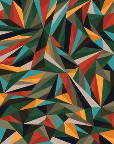 Sliced Fragments II by Marcelo Romero (via Sliced Fragments II Art Print by Marcelo Romero | Society6)