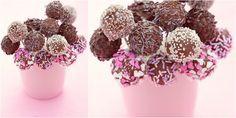 Πολύχρωμα τρουφάκια με nutella
