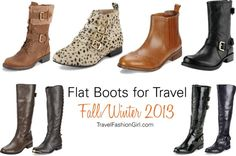 TFG Loves Flat Boots for Travel! Flat Boots makes great travel shoes for cold weather or for trips to destinations such as Europe or North America.
