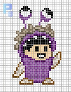 Boo Monsters, Inc. perler pattern - Patrones Beads / Plantillas para Hama