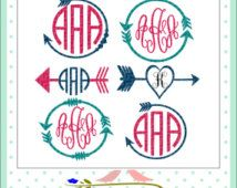 Free Hand Lettered Cut FIles for your Silhouette CAMEO or Cricut cutting machine! So many craft ideas for these cute cut files! SVG, DXF and PNG files. Cricut Monogram, Free Monogram, Monogram Decal, Monogram Design, Monogram Fonts, Monogram Letters, Cricut Air, Cricut Vinyl, Cricut Fonts