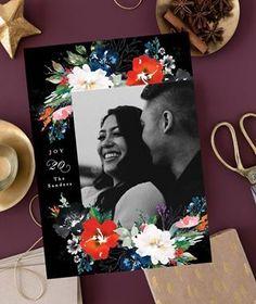 Christmas Photo Cards, Christmas Themes, Holiday Cards, Christmas Decorations, All Holidays, Christmas Holidays, Wedding Invitation Design, Stationery Design, Watercolor Flowers