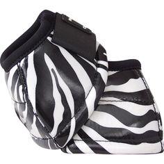 Classic Equine Designer Line Bell Boot Zebra Horse Boots, Cowgirl And Horse, Horse Gear, Horse Tack, Barrel Racing Horses, Barrel Horse, Polo Wraps, Classic Equine, Horse Riding Clothes