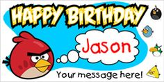 Angry Birds Birthday Banner