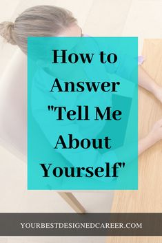 """Be prepared to answer when an interviewer asks, """"Tell me about yourself"""". What they want to do is to get to know you and get a feel for whether or not you are the best candidate for the job. Job Interview Answers, Job Interview Preparation, Job Interviews, Preparing For An Interview, Teacher Interview Questions, Interview Skills, Job Resume, Resume Tips, Resume Ideas"""