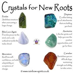 Crystals for new roots Crystal Shop, Crystal Magic, Crystal Grid, Minerals And Gemstones, Crystals Minerals, Rocks And Minerals, Crystal Healing Stones, Stones And Crystals, Gem Stones