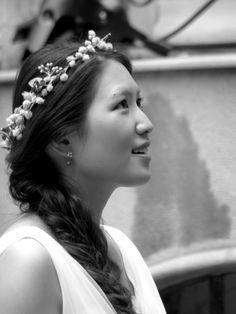 A bride in love