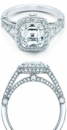 It doesn't have to be from Tiffany, but I love this style! Tiffany and Co Legacy cushion-cut diamond engagement ring with graduated side stones. Cushion Diamond, Cushion Cut Diamonds, Tiffany Et Co, Tiffany Outlet, Tiffany Blue, Bling Bling, Kinds Of Shoes, Ring Verlobung, Diamond Are A Girls Best Friend