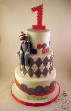 Sock monkey cake Birthday Cakes for Children Pinterest Sock