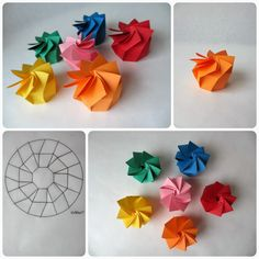 Boîte en spirale origami