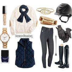 Simple to put together, but complex and intriguing to an outsider's eye! Pair a deep navy scarf with a deep navy vest and tie it all together with warmer and mo...