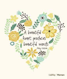 Lord, please make my heart beautiful ~