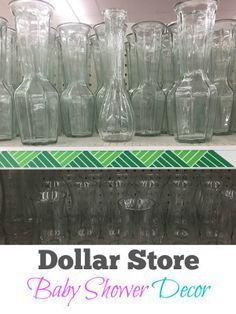 Things you can make from the Dollar Store… EASY DIY baby shower decorating ideas. Things you can make from the Dollar Store for your baby shower that are cheap centerpieces girl or boy. Shower Bebe, Baby Boy Shower, Baby Shower Gifts, Diy Baby Shower Favors, Baby Shower Parties, Baby Shower Themes, Baby Showers, Cheap Baby Shower Decorations, Balloon Decorations