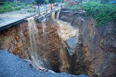 Sink hole - between China hwy