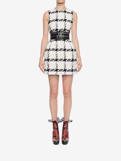 Dogtooth Check Mini Dress