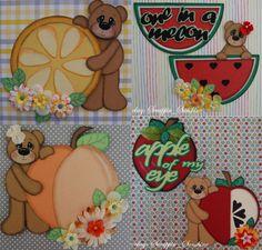 Fruit Bears (Scrapbook Paper Piecings)