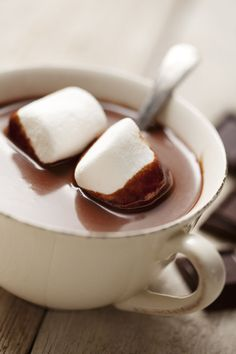 shutterstock:  Hot Chocolate with Marshmellows Photograph by Liv friis-larsen