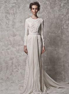 Nurita Harith 2014 Bridal Collection. www.theweddingnotebook.com Bridal Dresses, Hijab Wedding Dresses, Modest Wedding Gowns, Wedding Dressses, Bridal Outfits, Designer Wedding Dresses, Wedding Attire, Wedding Goals, Hijab Bride