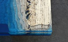 Serenity Now! Blue Lagoon Coffee Table Made of Marble & Resin Resin Furniture, Plywood Furniture, Industrial Furniture, Vintage Industrial, Industrial Design, Furniture Design, Facebook E Instagram, Serenity Now, Creators Project