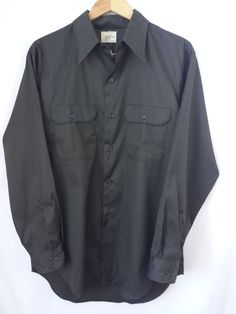 Vintage Big Mac Shirt Large 16-16 1/2 JC Pennys Rockabilly Green  #BigMacJCPenneys #ButtonFront #rockabilly