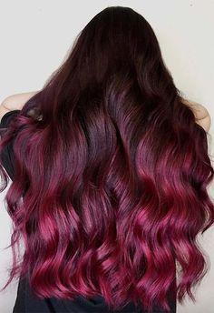 63 Yummy Burgundy Hair Color Ideas: Burgundy Hair Dye Tips & Tricks Burgundy Red Hair, Maroon Hair Colors, Hair Color Purple, Hair Dye Colors, Blonde Color, Purple Tips, Dyed Tips, Hair Dye Tips, Dyed Red Hair
