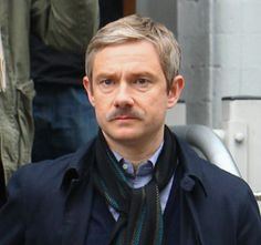 John Watson with a moustache. Excuse me, I'm going to my mind palace... *sigh*