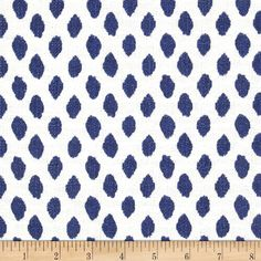 Lacefield Sahara Ikat Dots Midnight - Discount Designer Fabric - Fabric.com (master bedroom curtains)