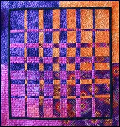 'Sunset' quilt by Lisa-S, via Flickr;  from a Convergence quilt pattern by Ricky Tims