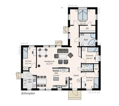 Bungalow, Sims 4, Planer, Shelter, House Plans, Sims Ideas, Floor Plans, Cottage, Decoration